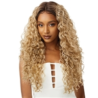 Glamourtress, wigs, weaves, braids, half wigs, full cap, hair, lace front, hair extension, nicki minaj style, Brazilian hair, crochet, hairdo, wig tape, remy hair, Lace Front Wigs, Outre Synthetic I-Part Swiss Lace Front Wig - NIKITA