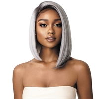 Glamourtress, wigs, weaves, braids, half wigs, full cap, hair, lace front, hair extension, nicki minaj style, Brazilian hair, crochet, hairdo, wig tape, remy hair, Lace Front Wigs, Outre Synthetic I-Part Swiss Lace Front Wig - LENI