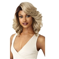 Glamourtress, wigs, weaves, braids, half wigs, full cap, hair, lace front, hair extension, nicki minaj style, Brazilian hair, crochet, hairdo, wig tape, remy hair, Lace Front Wigs, Outre Synthetic L-Part Swiss Lace Front Wig - BRANDI