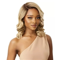Glamourtress, wigs, weaves, braids, half wigs, full cap, hair, lace front, hair extension, nicki minaj style, Brazilian hair, crochet, hairdo, wig tape, remy hair, Lace Front Wigs, Outre Synthetic L-Part Swiss Lace Front Wig - DAVITA