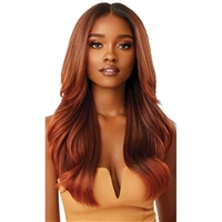 Glamourtress, wigs, weaves, braids, half wigs, full cap, hair, lace front, hair extension, nicki minaj style, Brazilian hair, crochet, hairdo, wig tape, remy hair, Lace Front Wigs, Outre Synthetic Melted Hairline Lace Front Wig - KAMIYAH
