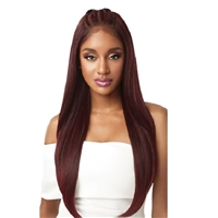 Glamourtress, wigs, weaves, braids, half wigs, full cap, hair, lace front, hair extension, nicki minaj style, Brazilian hair, crochet, hairdo, wig tape, remy hair, Lace Front Wigs, Outre Synthetic Perfect Hairline 13X6 Pre-Braided Lace Front Wig - IMAN