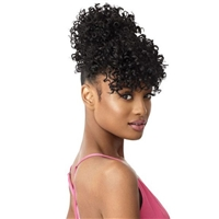 Glamourtress, wigs, weaves, braids, half wigs, full cap, hair, lace front, hair extension, nicki minaj style, Brazilian hair, crochet, hairdo, wig tape, remy hair, Lace Front Wigs, Remy Hair, Human Hair, Outre Synthetic Pretty Quick Bun & Bang - SUMMER