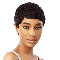 Glamourtress, wigs, weaves, braids, half wigs, full cap, hair, lace front, hair extension, nicki minaj style, Brazilian hair, crochet, hairdo, wig tape, remy hair, Lace Front Wigs, Remy Hair, Outre 100% Human Hair Premium Duby Wig - SCOTTIE