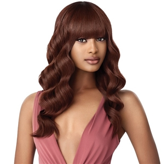 Glamourtress, wigs, weaves, braids, half wigs, full cap, hair, lace front, hair extension, nicki minaj style, Brazilian hair, crochet, hairdo, wig tape, remy hair, Lace Front Wigs, Remy Hair, Outre Synthetic Wigpop Full Wig - LAVERNE