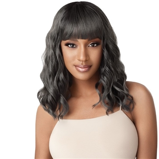 Glamourtress, wigs, weaves, braids, half wigs, full cap, hair, lace front, hair extension, nicki minaj style, Brazilian hair, crochet, hairdo, wig tape, remy hair, Lace Front Wigs, Remy Hair, Outre Synthetic Wigpop Full Wig - PAULINA