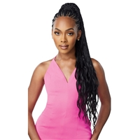 Glamourtress, wigs, weaves, braids, half wigs, full cap, hair, lace front, hair extension, nicki minaj style, Brazilian hair, crochet, hairdo, wig tape, remy hair, Lace Front Wigs, Outre Synthetic Wrap Pony Pretty Quick Ponytail - BOHO BOX BRAID 32