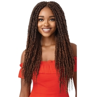 Glamourtress, wigs, weaves, braids, half wigs, full cap, hair, lace front, hair extension, nicki minaj style, Brazilian hair, crochet, hairdo, wig tape, remy hair, Lace Front Wigs, Outre Synthetic Braid - X PRESSION TWISTED UP 2X BONITA CRUSH LOCS 24""