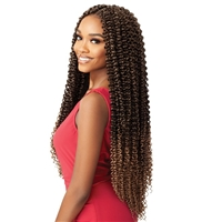 "Glamourtress, wigs, weaves, braids, half wigs, full cap, hair, lace front, hair extension, nicki minaj style, Brazilian hair, crochet, hairdo, wig tape, remy hair, Outre X-Pression Twisted Up Crochet Braid - PASSION WATERWAVE II 26"" SUPER LONG"