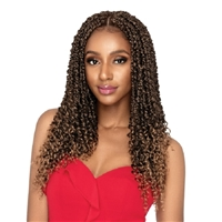 Glamourtress, wigs, weaves, braids, half wigs, full cap, hair, lace front, hair extension, nicki minaj style, Brazilian hair, crochet, hairdo, wig tape, remy hair, Outre Synthetic X-Pression Twisted Up Crochet Braids - PASSION WATERWAVE FEED TWIST 18