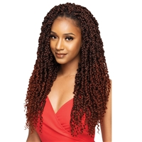 Glamourtress, wigs, weaves, braids, half wigs, full cap, hair, lace front, hair extension, nicki minaj style, Brazilian hair, crochet, hairdo, wig tape, remy hair, Outre Synthetic X-Pression Twisted Up Crochet Braids - PRE-TWISTED PASSION WATERWAVE 20