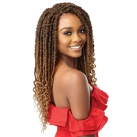 Glamourtress, wigs, weaves, braids, half wigs, full cap, hair, lace front, hair extension, nicki minaj style, Brazilian hair, crochet, hairdo, wig tape, remy hair, Outre Synthetic Braid X PRESSION TWISTED UP - 2X BONITA SUMMER SPLASH LOCS 18