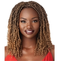 Glamourtress, wigs, weaves, braids, half wigs, full cap, hair, lace front, hair extension, nicki minaj style, Brazilian hair, crochet, hairdo, wig tape, remy hair, Outre Synthetic X-Pression Twisted Up Crochet Braids - WAVY BOMB TWIST CURLY TIP 12