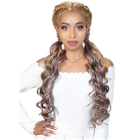 Glamourtress, wigs, weaves, braids, half wigs, full cap, hair, lace front, hair extension, nicki minaj style, Brazilian hair, crochet, hairdo, wig tape, remy hair, Lace Front Wigs, Zury Sis Synthetic Double Dutch 360 Lace Wig - 360 DD LACE H TIMI