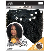 Glamourtress, wigs, weaves, braids, half wigs, full cap, hair, lace front, hair extension, nicki minaj style, Brazilian hair, crochet, hairdo, Zury Naturali Star Human Hair Natural Mix Clip & Go - CLIP ON 9 COILY