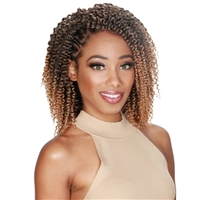 "Glamourtress, wigs, weaves, braids, half wigs, full cap, hair, lace front, hair extension, nicki minaj style, Brazilian hair, crochet, hairdo, wig tape, remy hair, Lace Front Wigs, Zury Naturali Star Crochet Braid V8910 KINKY TWIST OUT 8"",9"",10"""