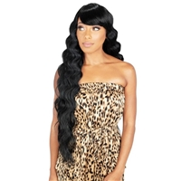 Glamourtress, wigs, weaves, braids, half wigs, full cap, hair, lace front, hair extension, nicki minaj style, Brazilian hair, crochet, hairdo, wig tape, remy hair, Lace Front Wigs, Zury Sis The Dream Synthetic Wig - DR H BANG CRIMP 30