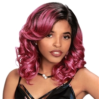 Glamourtress, wigs, weaves, braids, half wigs, full cap, hair, lace front, hair extension, nicki minaj style, Brazilian hair, crochet, hairdo, wig tape, remy hair, Lace Front Wigs, Remy Hair, Zury Sis Prime Human Hair Mix Lace Front Wig - PM JIA
