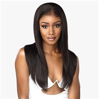 Glamourtress, wigs, weaves, braids, half wigs, full cap, hair, lace front, hair extension, nicki minaj style, Brazilian hair, crochet, hairdo, wig tape, remy hair, Lace Front Wigs, Sensationnel 100% Virgin Human Hair 12A Lace Front Wig - Straight 24