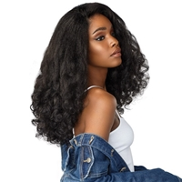 Glamourtress, wigs, weaves, braids, half wigs, full cap, hair, lace front, hair extension, nicki minaj style, Brazilian hair, crochet, wig tape, remy hair, Lace Front Wigs, Sensationnel Instant Weave Curls Kinks & Co Wig - HEART BREAKER