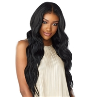 Glamourtress, wigs, weaves, braids, half wigs, full cap, hair, lace front, hair extension, nicki minaj style, Brazilian hair, crochet, hairdo, wig tape, remy hair, Sensationnel Synthetic Cloud 9 Swiss Lace What Lace 13x6 Frontal HD Lace Wig - BRIELLE