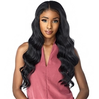 Glamourtress, wigs, weaves, braids, half wigs, full cap, hair, lace front, hair extension, nicki minaj style, Brazilian hair, crochet, hairdo, Sensationnel Synthetic Cloud9 Swiss Lace What Lace 360 13x4 Frontal Lace Wig - AKEELY HIGHBUN