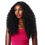 Glamourtress, wigs, weaves, braids, half wigs, full cap, hair, lace front, hair extension, nicki minaj style, Brazilian hair, crochet, hairdo, wig tape, remy hair, Sensationnel Synthetic Hair Empress Natural Center Part Lace Front Wig - AMANI
