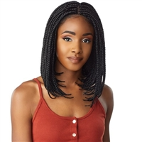 Glamourtress, wigs, weaves, braids, half wigs, full cap, hair, lace front, hair extension, nicki minaj style, Brazilian hair, crochet, hairdo, wig tape, remy hair, Sensationnel Cloud 9 Synthetic Hair 4x4 Lace Parting Swiss Lace Wig - BOX BRAID BOB