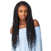 Glamourtress, wigs, weaves, braids, half wigs, full cap, hair, lace front, hair extension, nicki minaj style, Brazilian hair, crochet, hairdo, wig tape, remy hair, Sensationnel Cloud 9 4x4 Multi-Part Swiss Lace Front Wig Box Braid Large