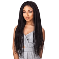 Glamourtress, wigs, weaves, braids, half wigs, full cap, hair, lace front, hair extension, nicki minaj style, Brazilian hair, crochet, hairdo, wig tape, remy hair, Sensationnel Cloud 9 4x4 Multi-Part Swiss Lace Front Wig Box Braid Small