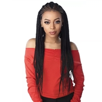 Glamourtress, wigs, weaves, braids, half wigs, full cap, hair, lace front, hair extension, nicki minaj style, Brazilian hair, crochet, hairdo, wig tape, remy hair, Sensationnel Cloud9 Hand Braided 13x7 Part Swiss Lace Wig - FEED IN FULANI CORNROW