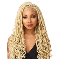 Glamourtress, wigs, weaves, braids, half wigs, full cap, hair, lace front, hair extension, nicki minaj style, Brazilian hair, crochet, hairdo, wig tape, remy hair, Sensationnel Cloud 9 4x4 Multi-Part Swiss Lace Front Wig Goddess Loc