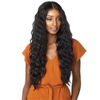 Glamourtress, wigs, weaves, braids, half wigs, full cap, hair, lace front, hair extension, nicki minaj style, Brazilian hair, crochet, hairdo, wig tape, remy hair, Lace Front Wigs, Sensationnel Empress Synthetic Natural Center Lace Front Wig  LAISHA
