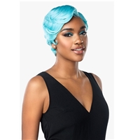 Glamourtress, wigs, weaves, braids, half wigs, full cap, hair, lace front, hair extension, nicki minaj style, Brazilian hair, crochet, hairdo, wig tape, remy hair, Lace Front Wigs, Sensationnel Shear Muse Synthetic Hair Empress Lace Front Wig - MACI