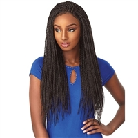 Glamourtress, wigs, weaves, braids, half wigs, full cap, hair, lace front, hair extension, nicki minaj style, Brazilian hair, crochet, hairdo, wig tape, remy hair, Sensationnel Cloud 9 4x4 Multi-Part Swiss Lace Front Wig Senegal Twist