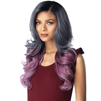 Glamourtress, wigs, weaves, braids, half wigs, full cap, hair, lace front, hair extension, nicki minaj style, Brazilian hair, crochet, hairdo, wig tape, remy hair, Lace Front Wigs, Sensationnel Shear Muse Synthetic Hair Empress Lace Front Wig - SKYLAR