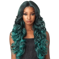 Glamourtress, wigs, weaves, braids, half wigs, full cap, hair, lace front, hair extension, nicki minaj style, Brazilian hair, crochet, hairdo, wig tape, remy hair, Lace Front Wigs, Sensationnel Empress Synthetic Natural Center Lace Front Wig - TRISSA