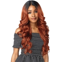 Glamourtress, wigs, weaves, braids, half wigs, full cap, hair, lace front, hair extension, nicki minaj style, Brazilian hair, crochet, hairdo, wig tape, remy hair, Lace Front Wigs, Sensationnel Synthetic Hair Empress Natural Deep Part Lace Front Wig - ZAN