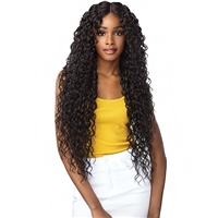 Glamourtress, wigs, weaves, braids, half wigs, full cap, hair, lace front, hair extension, nicki minaj style, Brazilian hair, crochet, hairdo, wig tape, remy hair, Sensationnel Shear Muse Synthetic Hair Empress Lace Front Wig - NAYANA