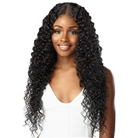 Glamourtress, wigs, weaves, braids, half wigs, full cap, hair, lace front, hair extension, nicki minaj style, Brazilian hair, crochet, hairdo, wig tape, remy hair, Lace Front Wigs, Sensationnel Human Hair Blend Butta HD Lace Front Wig - BOHEMIAN 28