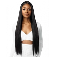 Glamourtress, wigs, weaves, braids, half wigs, full cap, hair, lace front, hair extension, nicki minaj style, Brazilian hair, crochet, hairdo, wig tape, remy hair, Lace Front Wigs, Sensationnel Human Hair Blend Butta HD Lace Front Wig - STRAIGHT 32