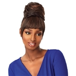 Glamourtress, wigs, weaves, braids, half wigs, full cap, hair, lace front, hair extension, nicki minaj style, Brazilian hair, crochet, hairdo, wig tape, remy hair, Lace Front Wigs, Remy Hair, Sensationnel Synthetic Instant Bun with Bangs - ADA