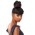 Glamourtress, wigs, weaves, braids, half wigs, full cap, hair, lace front, hair extension, nicki minaj style, Brazilian hair, crochet, hairdo, wig tape, remy hair, Lace Front Wigs, Remy Hair, Sensationnel Synthetic Instant Bun with Bangs - BRIA