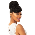 Glamourtress, wigs, weaves, braids, half wigs, full cap, hair, lace front, hair extension, nicki minaj style, Brazilian hair, crochet, hairdo, wig tape, remy hair, Lace Front Wigs, Remy Hair, Sensationnel Synthetic Instant Bun with Bangs - CARLA