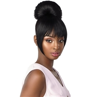 Glamourtress, wigs, weaves, braids, half wigs, full cap, hair, lace front, hair extension, nicki minaj style, Brazilian hair, crochet, hairdo, wig tape, remy hair, Lace Front Wigs, Remy Hair, Sensationnel Synthetic Instant Bun with Bangs -   HAYLIE