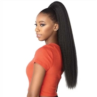Glamourtress, wigs, weaves, braids, half wigs, full cap, hair, lace front, hair extension, nicki minaj style, Brazilian hair, crochet, hairdo, wig tape, remy hair, Lace Front Wigs, Remy Hair,Sensationnel Synthetic Hair Drawstring Ponytail Natural Perm Yak