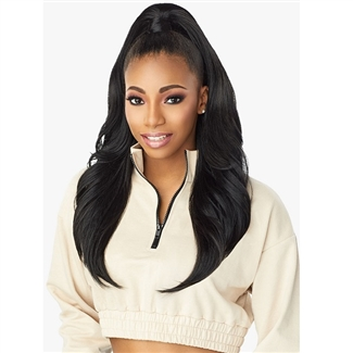 Glamourtress, wigs, weaves, braids, half wigs, full cap, hair, lace front, hair extension, nicki minaj style, Brazilian hair, crochet, hairdo, wig tape, remy hair, Sensationnel Instant Up & Down (Half Wig + Ponytail) - UD 1