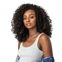 Glamourtress, wigs, weaves, braids, half wigs, full cap, hair, lace front, hair extension, nicki minaj style, Brazilian hair, crochet, hairdo, wig tape, remy hair, Lace Front Wigs, Remy Hair, Human, Sensationnel Instant Weave Curls Kinks & Co Wig The Show