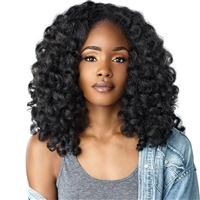 Glamourtress, wigs, weaves, braids, half wigs, full cap, hair, lace front, hair extension, nicki minaj style, Brazilian hair, crochet, wig tape, remy hair, Lace Front Wigs, Sensationnel Instant Weave Curls Kinks & Co Half Wig - MONEY MAKER