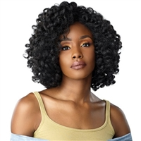 Glamourtress, wigs, weaves, braids, half wigs, full cap, hair, lace front, hair extension, nicki minaj style, Brazilian hair, crochet, wig tape, remy hair, Lace Front Wigs, Sensationnel Instant Weave Curls Kinks & Co Half Wig - ROLE MODEL